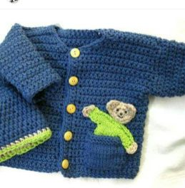 Knitted baby dress, vest, cardigan, sweater, overalls patterns (289)