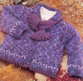 Knitted baby dress, vest, cardigan, sweater, overalls patterns (714)