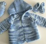 Knitted baby dress, vest, cardigan, sweater, overalls patterns (734)