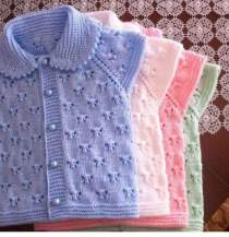Knitted baby dress, vest, cardigan, sweater, overalls patterns (739)