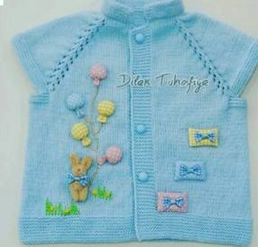 Knitted baby dress, vest, cardigan, sweater, overalls patterns (745)