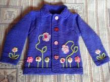 Knitted baby dress, vest, cardigan, sweater, overalls patterns (766)