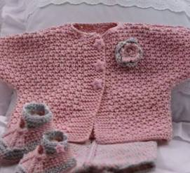 Knitted baby dress, vest, cardigan, sweater, overalls patterns (775)