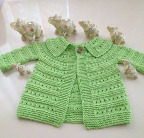 Knitted baby dress, vest, cardigan, sweater, overalls patterns (780)