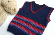 Knitted baby sweater, vest patterns (17)