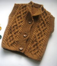 Knitted baby sweater, vest patterns (42)