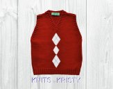 Knitted baby sweater, vest patterns (54)