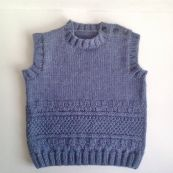 Knitted baby sweater, vest patterns (75)