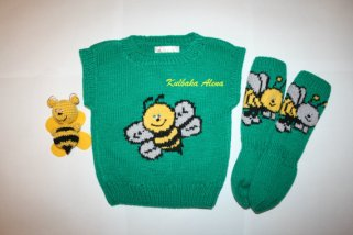 Knitted baby sweater, vest patterns (94)