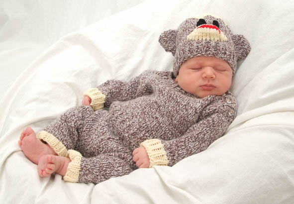 Free Knitting Pattern For Baby Monkey Hat : Baby Sock Monkey Costume! - Knitting is Awesome
