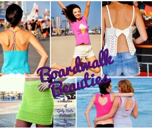 girly knits boardwalk beauties knitting pattern collection