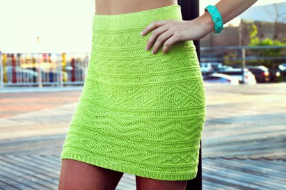 shes electric aztec pattern knitted bodycon skirt knitting pattern 4