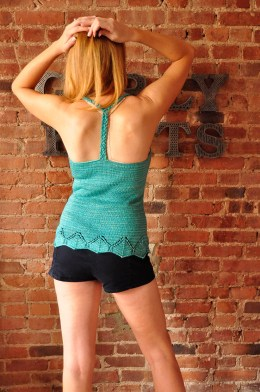 sunshine and lollipops braided t-strap back knitted tank top with lace edge knitting pattern 4