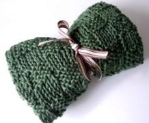 Box Knit Lap Blanket