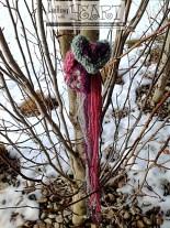 3 knit hearts in tree