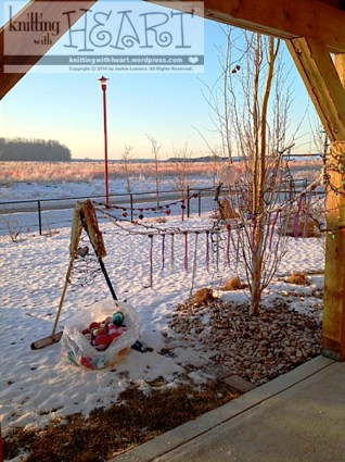 heart garland backyard decor