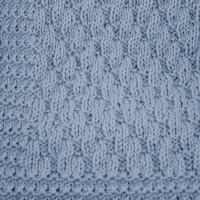 Blue waves baby blanket