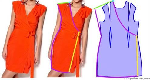 Платье С Запахом Фото Выкройка
