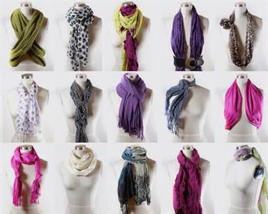 Как красиво завязать шарф на голове и шее: популярные ...