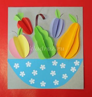 "Аппликация ""Фрукты на тарелке"": шаблоны для детей от ..."