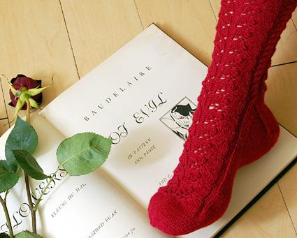 Baudelaire, skarpetki robione na drutach - darmowy wzór