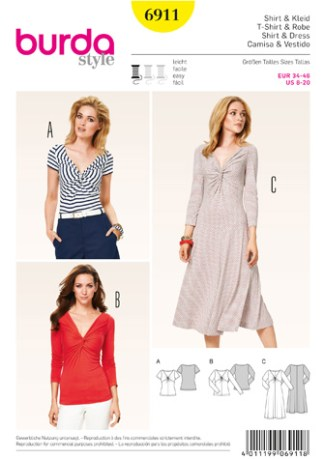 Burda-Style-6911-Shirt-and-Dress