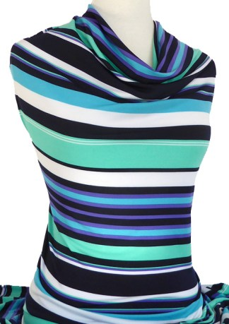 Knitwit Printed Jersey Knit Florida Stripe Multicolour