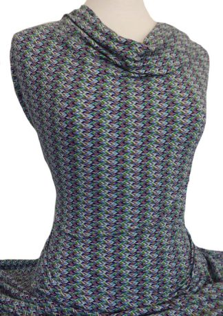 Knitwit Printed Viscose Spandex Knit Mission Multicolour