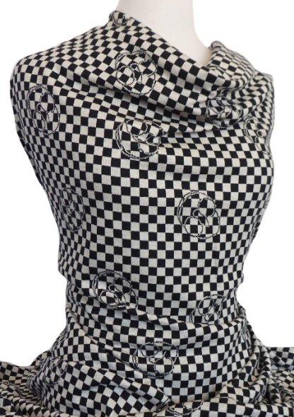 Knitwit Italian Jacquard Knit Francesca Black White