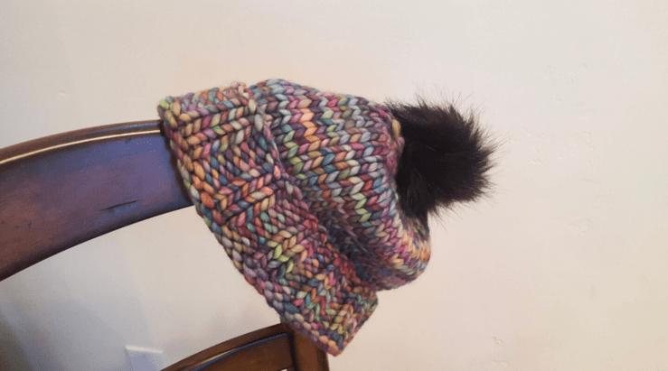chunky knitted hat in malabrigo rasta