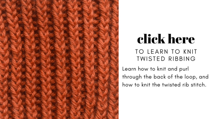 The twisted rib stitch