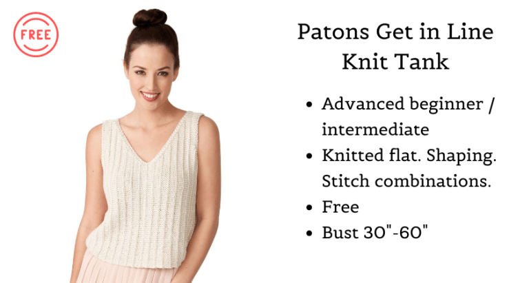 Patons Get in Line Knit Tank