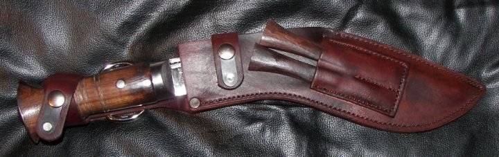 CUSTOM LEATHER SHEATH FOR  KHUKURI