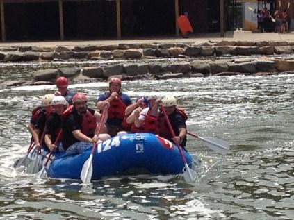 Amann Girrbach America Team Building Event WWC Rafting Class IV Rapids