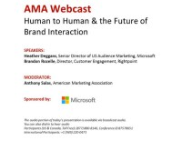 American Marketing Association Webcast: Human To Human & the Furture of Brand Interaction