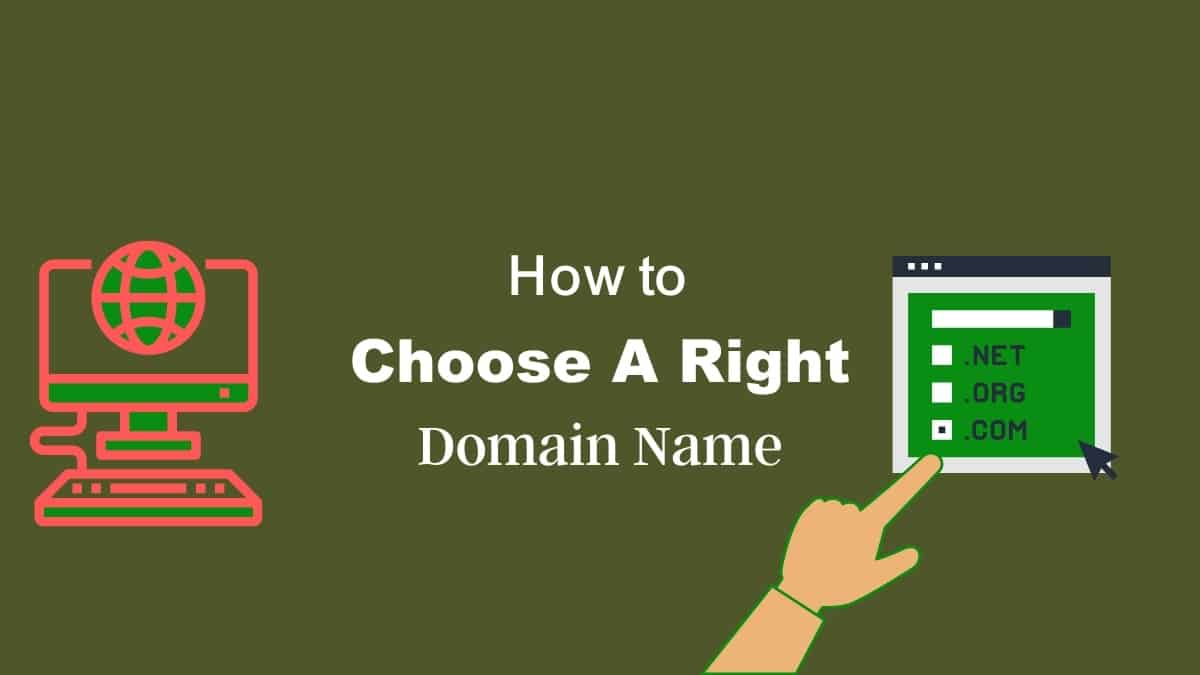 How to Choose a right domain name for your website