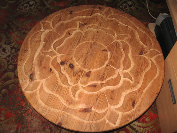 Carved Tudor Rose Knoba