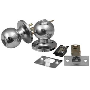 Adjustable Latch 33-57mm Brushed Chrome Door Handle Handles Locks Latch Latchs Knobs SET Stainless Steel & Copper for Passage