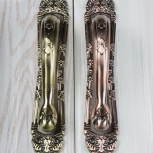 Retro Classic Anti-theft Door Handles and Knobs Double Door Big Pulls Large Hole Spacing Length 18cm 25cm 30cm