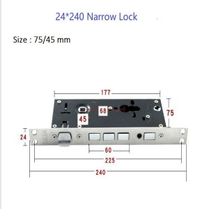 Universal Narrow Security mortise Door Lock body,mortise door Locks part (68*45/68*40)
