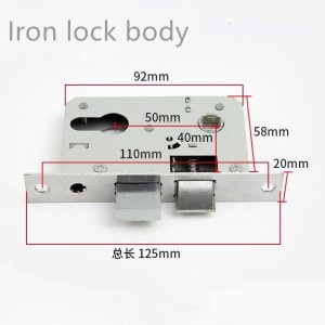 High Quality Brass Lock Body silence Copper Tongues Universal Door Handle lock Replacement spare parts Hardware accessories