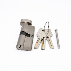 70mm Black Chrome Plated Brass Door Lock Cylinder With 3 Brass Computer Keys Anti-theft Home Security Cylinder With Knobs