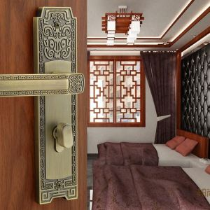 Chinese antique bedroom door interior door locks handle mechanical lock hardware Z05 For 35 ~ 55mm thickness of the door