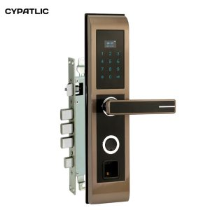 CYPATLIC JCF2019 Golden Color Cerradura Electronica Puerta biometric digital door locks with LCD display