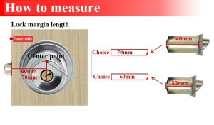 Hidden Door Locks Stainless Steel Handle Recessed Cabinet Invisible Pull Mechanical Outdoor Lock For Fire Proof Hardware