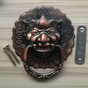 Vintage 140*155mm Large Antique Lion Door handles Door Knocker Lionhead Lions Home Decoration Door knobs antique Door Hardware
