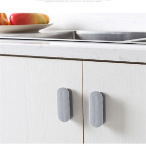 2pc Creative Home Pasted Door Handle Simple Auxiliary Door And Window Handle Adhesive Home Use Wimdow Interior Drawer Handlebars