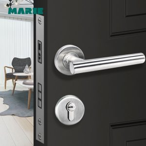 LH1004 Modern stainless steel tube door handle,door lock with handle