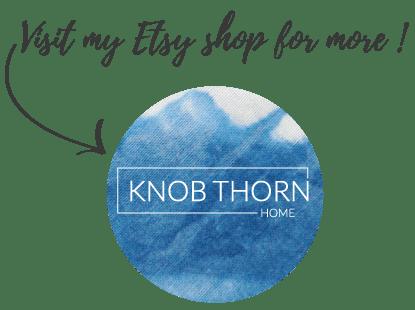 Knob thorn home etsy shop