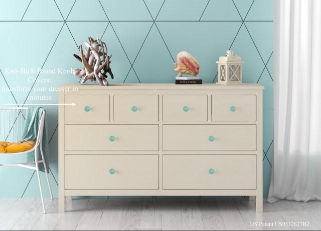 Kno-Bu Brand dresser drawer knob covers beach chic.